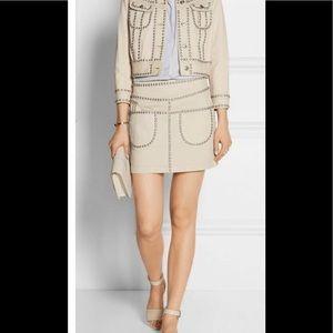 Coach studded denim mini skirt